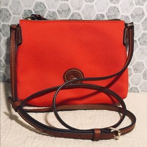 Red Dooney and Bourke canvas crossbody